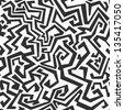 monochrome seamless maze pattern (raster version) - stock photo