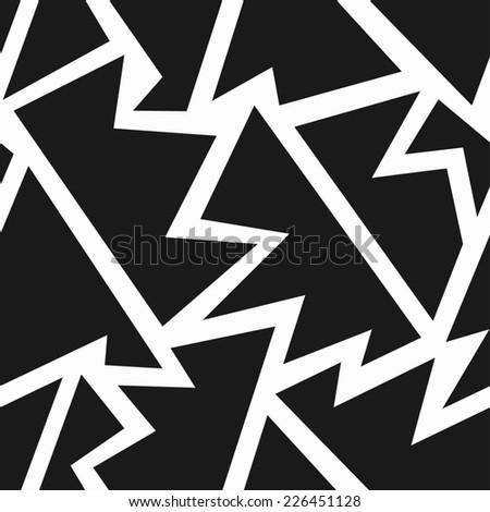 monochrome tribal geometric seamless pattern (raster version) - stock photo