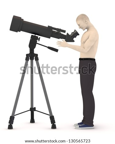 monocular with cartoon character