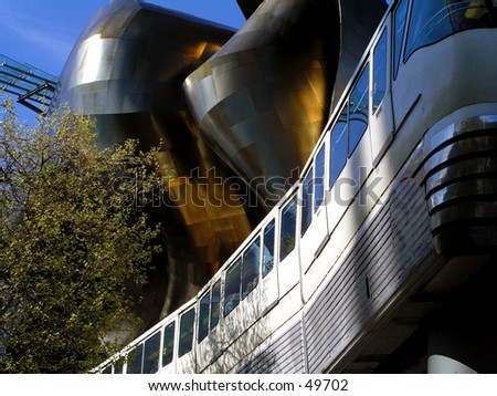 Monorail at EMP - stock photo