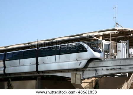 Monorail at station - stock photo