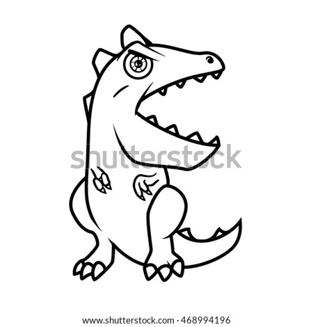 Monster Alphabet Coloring Pages Letter E Stock Illustration ...