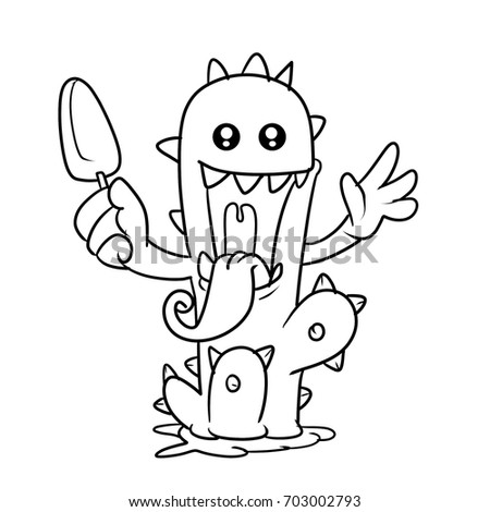 Monster Cactus Kid Coloring Book Stock Illustration 703002793 ...