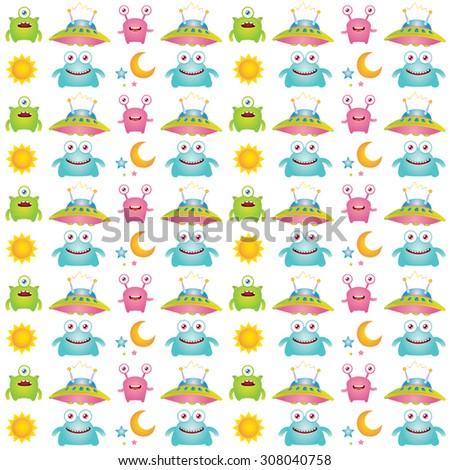 monster pattern design - stock photo