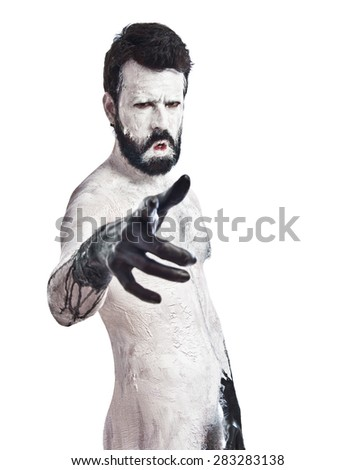 Monster pointing to the front - stock photo