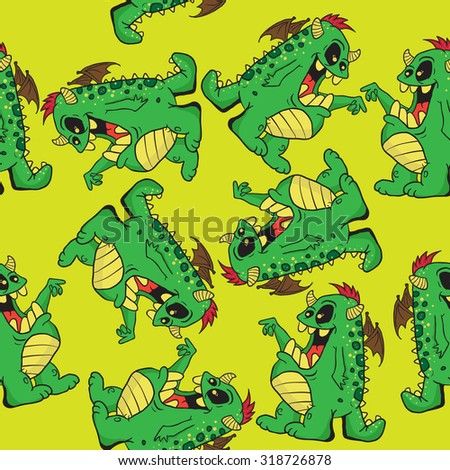 monster seamless pattern