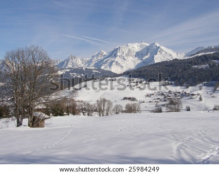 Mont-Blanc in winter