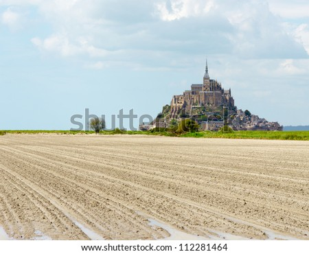 Mont Saint Michel Abbey, Normandy / Brittany, France - stock photo