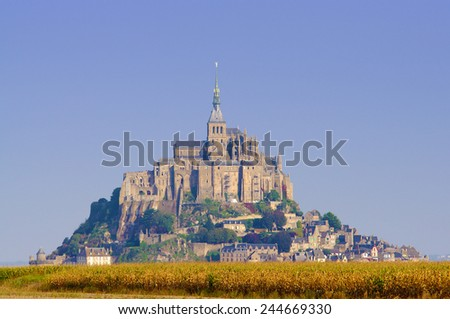 Mont Saint Michel castle  - stock photo