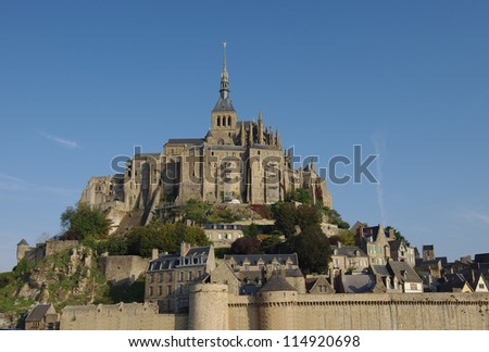 Mont Saint Michel castle, Bretagne, France - stock photo