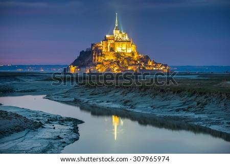 Mont Saint Michel France. - stock photo