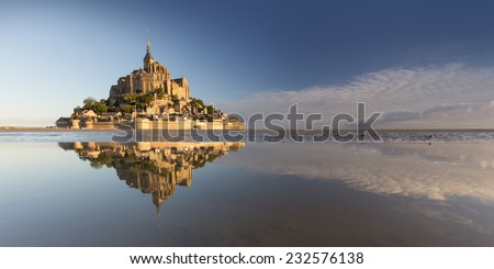Mont saint michel in france - stock photo