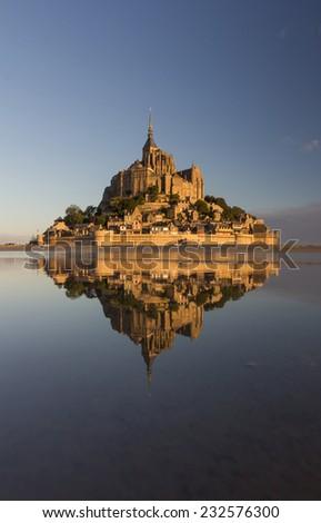 Mont saint michel in france - stock photo
