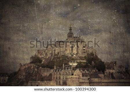 Mont St. Michel, France - stock photo