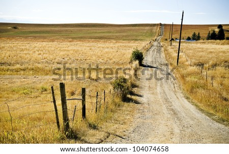 Montana Roads - stock photo
