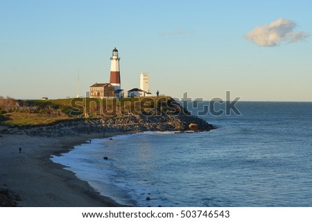 Montauk Lighthouse in Long Island, New York, USA.