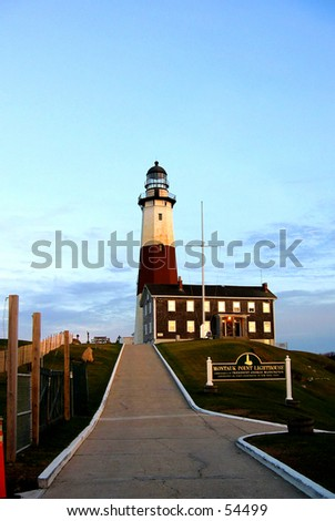 Montauk Montauk Point Lighhouse (Photo 1 of 5) - stock photo