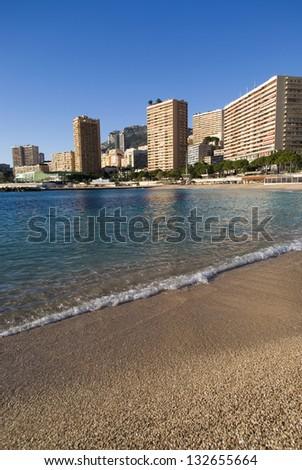 Monte Carlo beaches - stock photo
