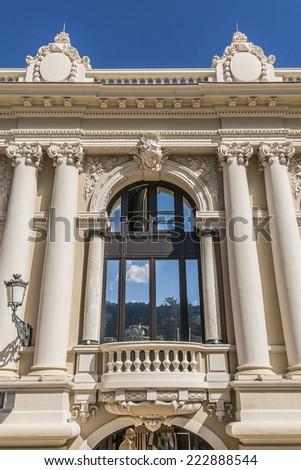 Monte Carlo Casino (architect Charles Garnier) is a gambling and entertainment complex includes a Casino and Grand Theater de Monte Carlo. Monaco. - stock photo