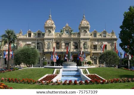 Monte Carlo Casino - Art nouveau building in the Principality of Monaco - stock photo