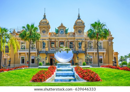 Monte Carlo Casino square front day view