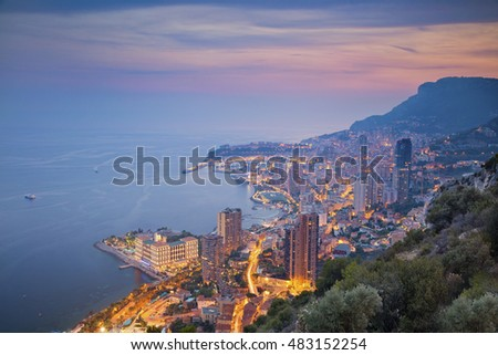 Monte Carlo. Image of Monte Carlo, Monaco during summer sunset.