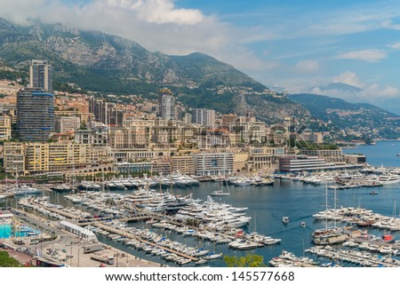 Monte Carlo in Monaco on the Cote D'Azur - stock photo
