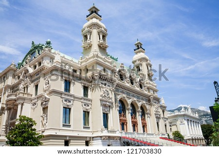 MONTE CARLO - JULY 06: Opera house in Monte Carlo built in 1893 by French architect Charles Garnier on July 06, 2009.