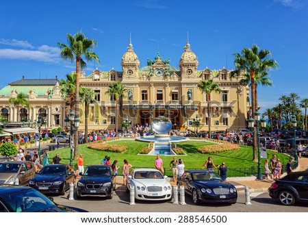 Monte Carlo Monaco July  People Gathering In Front Of The World Famous