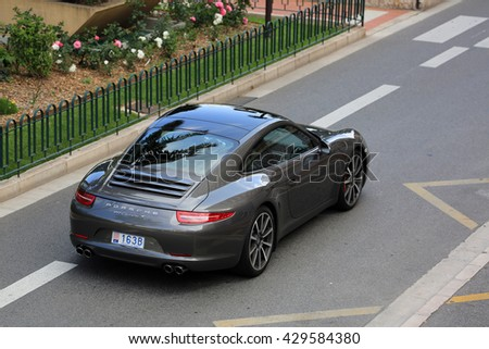 monte carlo monaco may 18 2016 luxury black porsche 911 carrera - 911 Porsche Black