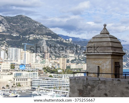 MONTE-CARLO, MONACO, on JANUARY 10, 2016. Picturesque view