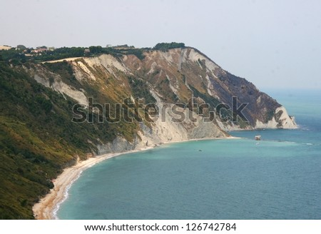 Monte Conero nearby Ancona - stock photo