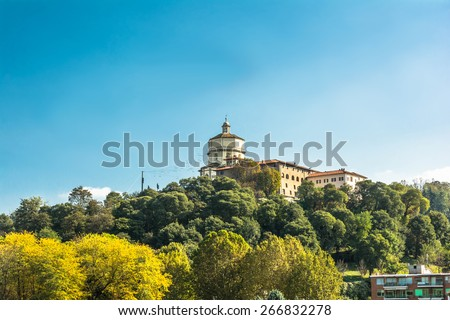 Monte dei Cappuccini, Turin Turin,Italy,Europe - October 18, 2014 : View of the Monte dei Cappuccini from below