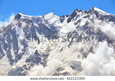 Monte Rosa, the highest mountain in Italy.