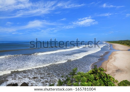 Montelimar is a beach located on the Pacific coast of Nicaragua - stock photo