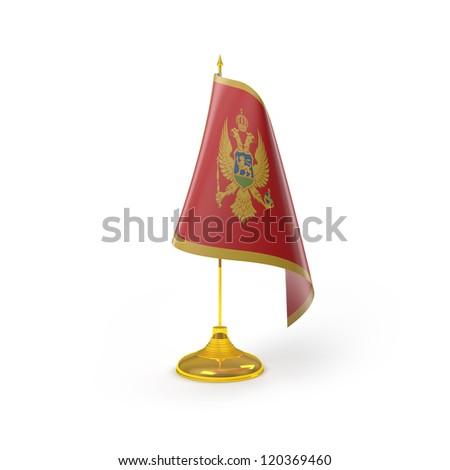 Montenegro Flag Detail Render - stock photo