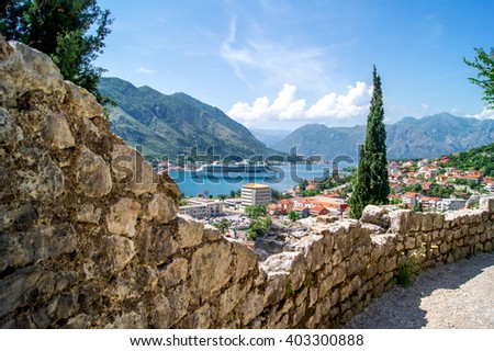 Montenegro landscape, Kotor - stock photo