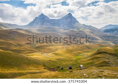 Montenegro, national park Durmitor, mountains and clouds
