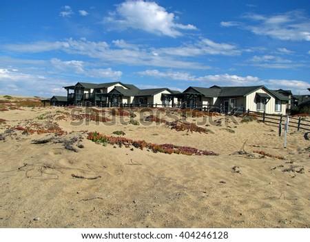 MONTEREY BAY BEACH, CA - NOVEMBER 15:  The Sanctuary Beach Resort is Monterey Bay's Most Prestigious Coastal Retreat November 15, 2012  in Monterey, California - stock photo