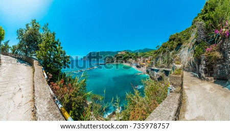 Monterosso village within Cinque Terre in Liguria Region, Northern Italy.