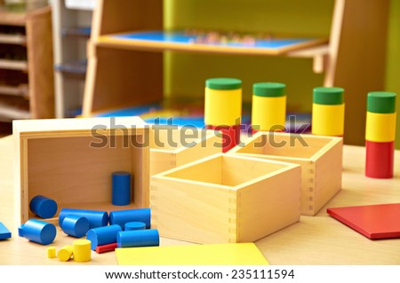 Montessori material - stock photo