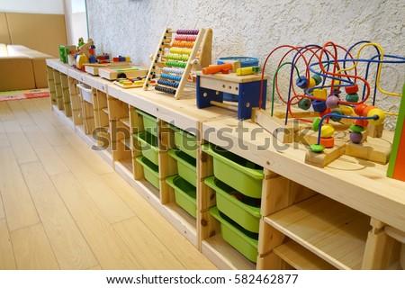 Montessori Material Kindergarten Preschool Classroom Interior