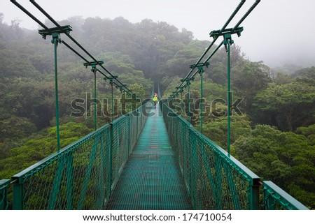 Monteverde Hanging Bridge - stock photo