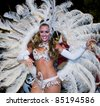 MONTEVIDEO, URUGUAY - FEB 5: An unidentified dancer participates in the annual national festival of Uruguay on February 05 2011 in Montevideo, Uruguay. - stock photo