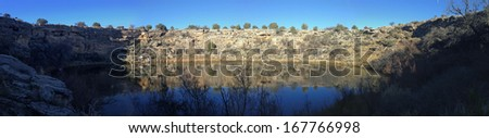 Montezum Well in Montezuma Castle National Monument in Arizona - stock photo