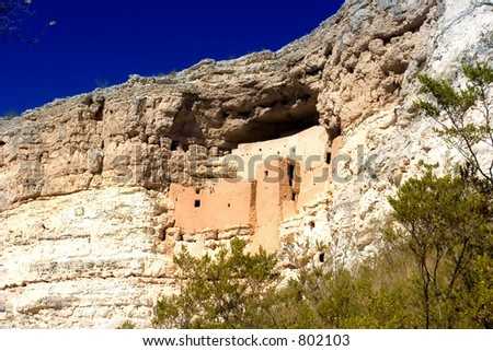 Montezuma castle national monument Arizona USA (exclusive at shutterstock) - stock photo