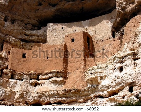 Montezuma Castle near Phoenix, AZ - stock photo