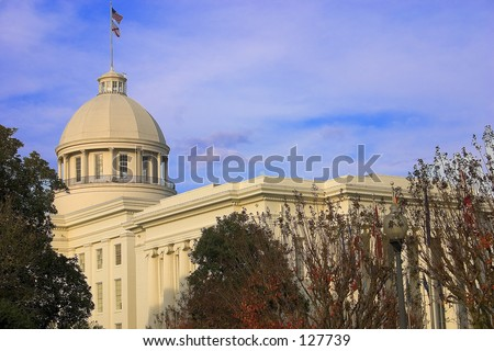 Montgomery Alabama Capitol - Center View - stock photo