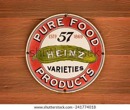 MONTGOMERY, ALABAMA - DECEMBER 4: Heinz 57 Varieties sign in Old Alabama Town on December 4, 2014 in Montgomery, Alabama - stock photo