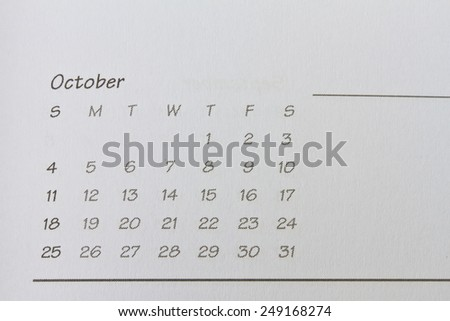 Month Of October background